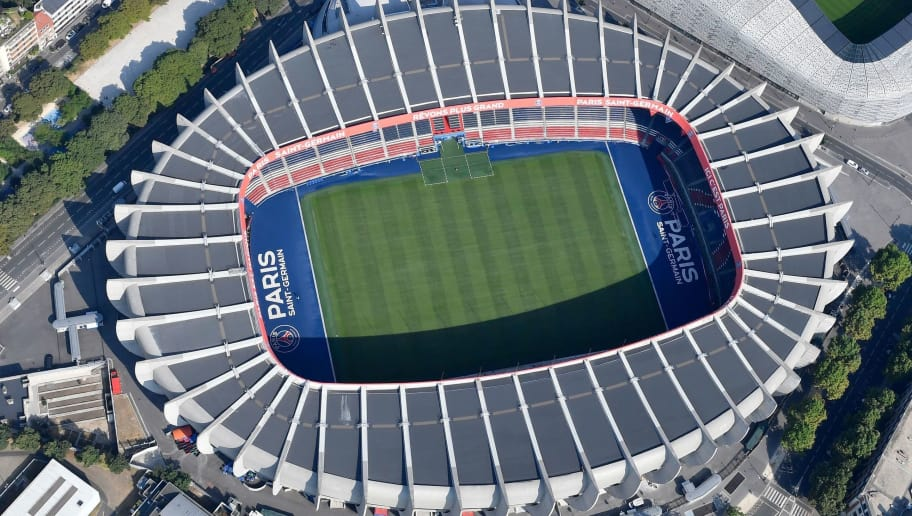 Aerial view of the Parc des Princes stadium in Paris on July 14, 2018. (Photo by GERARD JULIEN / AFP)        (Photo credit should read GERARD JULIEN/AFP/Getty Images)