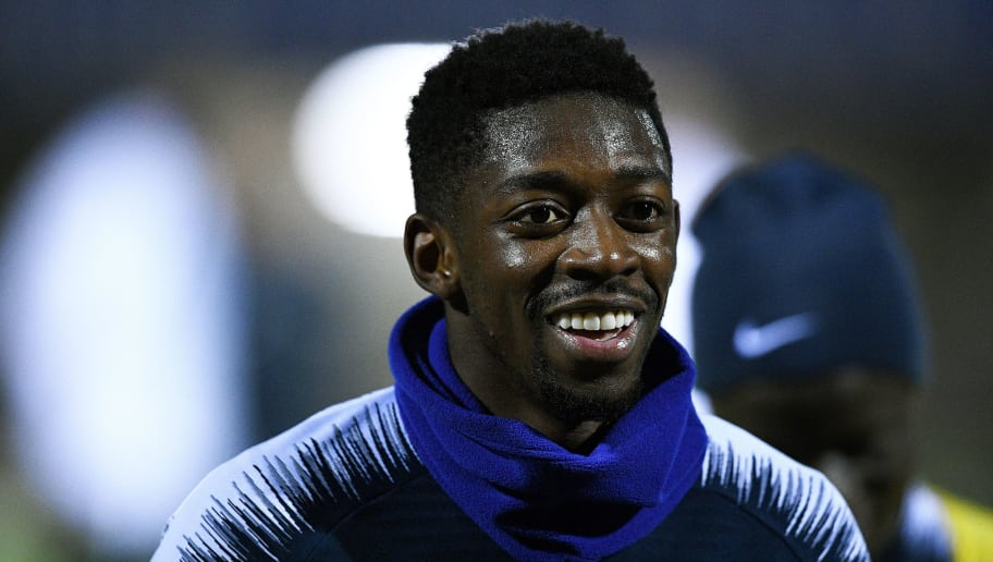 France's forward Ousmane Dembele leaves a training session in Clairefontaine-en-Yvelines, near Paris, on November 13, 2018, as part of the team's preparation for the Nations League football match against the Netherlands and a friendly football match against Uruguay. (Photo by FRANCK FIFE / AFP)        (Photo credit should read FRANCK FIFE/AFP/Getty Images)