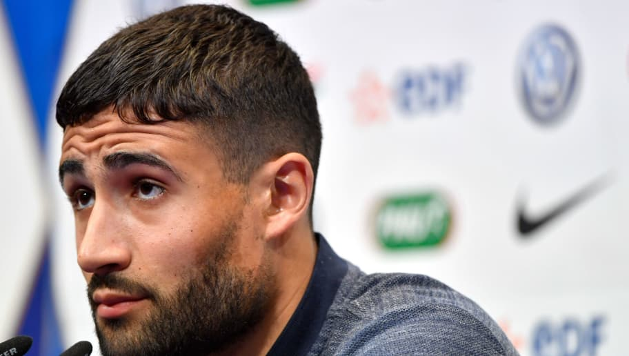 France's national football team midfielder Nabil Fekir attends a press conference at the team's training camp in Clairefontaine-en-Yvelines, near Paris, on May 25, 2018, during the team's prepatation for the upcoming FIFA World Cup 2018. (Photo by GERARD JULIEN / AFP)        (Photo credit should read GERARD JULIEN/AFP/Getty Images)