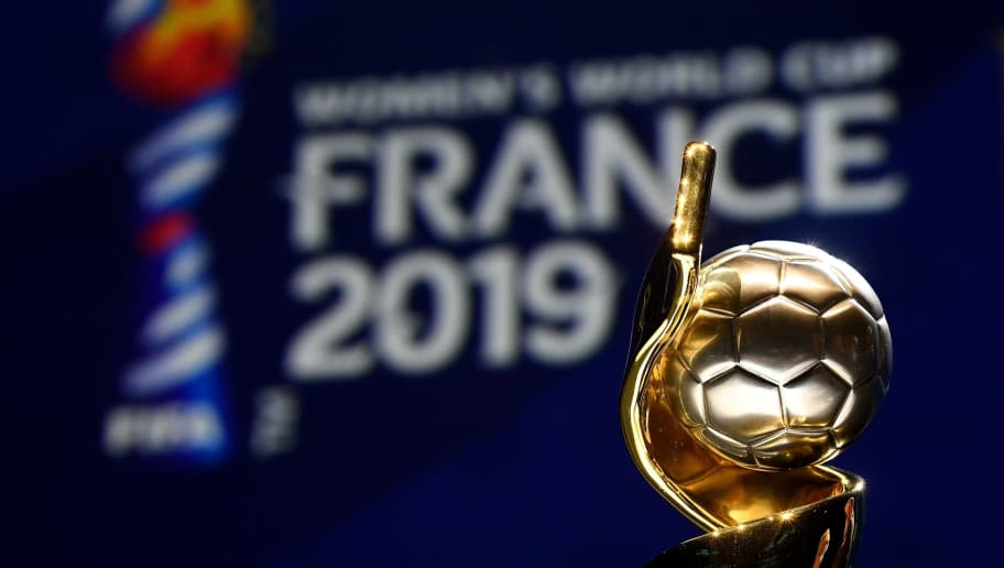 The trophy of the 2019 FIFA Women World Cup is pictured during the final draw of the 2019 FIFA Women World cup football tournament in Boulogne-Billancourt, near Paris, on December 8, 2018. (Photo by FRANCK FIFE / AFP)        (Photo credit should read FRANCK FIFE/AFP/Getty Images)