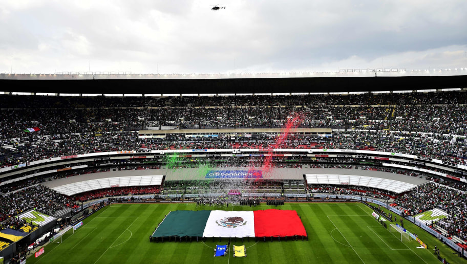 View before the start of the international friendly football match between Mexico and Scotland at the Azteca stadium in Mexico City, on June 2, 2018. (Photo by PEDRO PARDO / AFP)        (Photo credit should read PEDRO PARDO/AFP/Getty Images)
