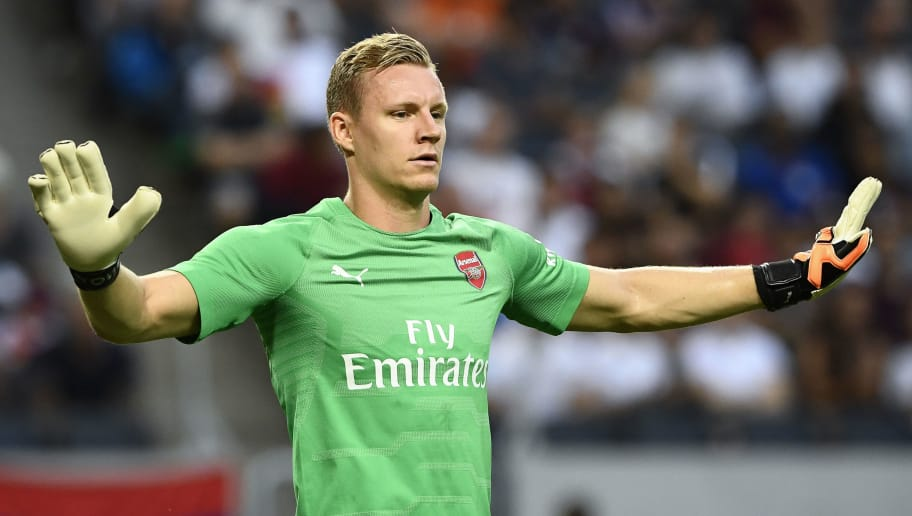 Arsenal's goalkeeper Bernd Leno during the friendly football match between Arsenal and Lazio in Solna, Sweden on August 4, 2018. (Photo by Jonathan NACKSTRAND / AFP)        (Photo credit should read JONATHAN NACKSTRAND/AFP/Getty Images)