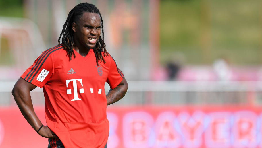 Bayern Munich's Portuguese midfielder Renato Sanches attends a trainings session at the FC Bayern Munich trainings ground in Munich, southern Germany, on July 4, 2018. (Photo by Christof STACHE / AFP)        (Photo credit should read CHRISTOF STACHE/AFP/Getty Images)