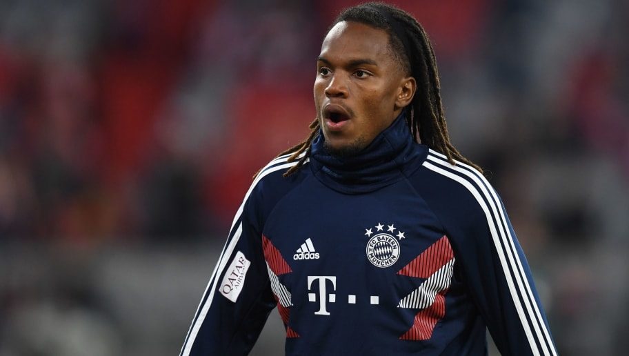 Bayern Munich's Portuguese midfielder Renato Sanches warms up prior to the German first division Bundesliga match between FC Bayern Munich and FC Augsburg in the stadium in Munich, southern Germany, on September 25, 2018. (Photo by Christof STACHE / AFP)        (Photo credit should read CHRISTOF STACHE/AFP/Getty Images)