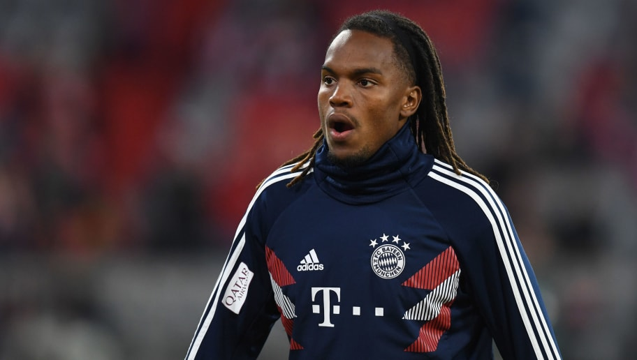 a7cb7eae6 Bayern Munich s Portuguese midfielder Renato Sanches warms up prior to the  German first division Bundesliga match