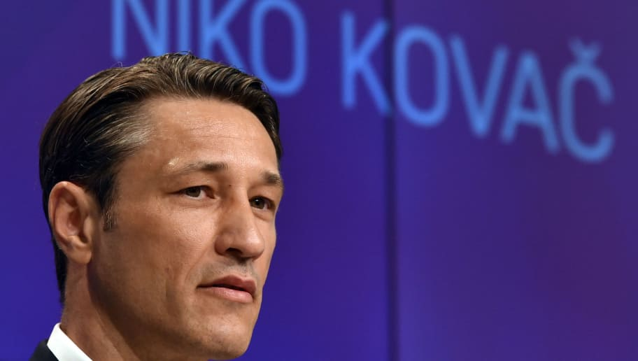 Bayern Munich's new Croatian head coach Niko Kovac attends a press conference at the stadium in Munich, southern Germany, on July 2, 2018. - The former Eintracht coach Niko Kovac will take over from Jupp Heynckes for the 2018/2019 Bundesliga season. (Photo by Christof STACHE / AFP)        (Photo credit should read CHRISTOF STACHE/AFP/Getty Images)