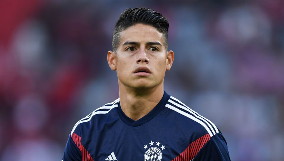 Bayern Munich's Colombian midfielder James Rodriguez leaves the pitch after warming up prior to the German first division Bundesliga football match FC Bayern Munich vs Borussia Moenchengladbach in Munich, southern Germany, on October 6, 2018. (Photo by Christof STACHE / AFP) / RESTRICTIONS: DFL REGULATIONS PROHIBIT ANY USE OF PHOTOGRAPHS AS IMAGE SEQUENCES AND/OR QUASI-VIDEO        (Photo credit should read CHRISTOF STACHE/AFP/Getty Images)