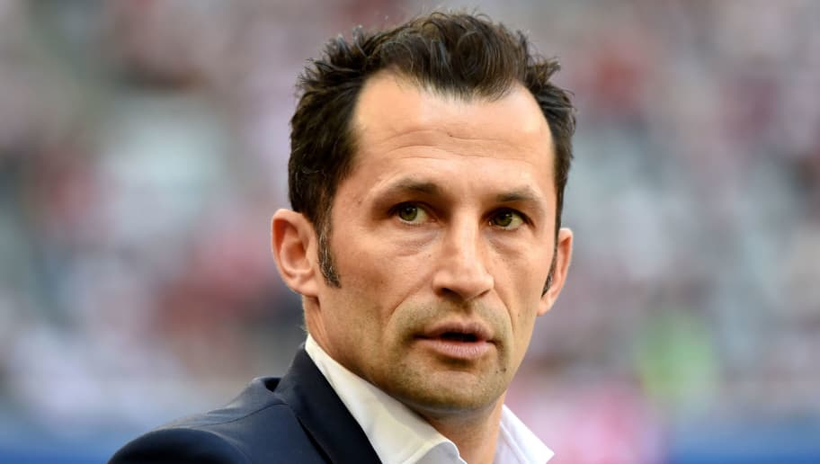 Bayern Munich's Bosnian Sporting director Hasan Salihamidzic looks on prior to the German first division Bundesliga football match FC Bayern Munich and VfB Stuttgart at the stadium in Munich, on May 12, 2018. (Photo by Christof STACHE / AFP)        (Photo credit should read CHRISTOF STACHE/AFP/Getty Images)