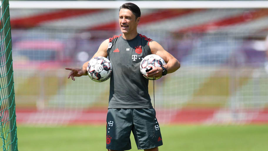 Bayern Munich's Croatian head coach Niko Kovac attends a team trainings session of the German first division Bundesliga team FC Bayern Munich in the team trainings camp in Rottach-Egern, southern Germany, on August 6, 2018. (Photo by Christof STACHE / AFP)        (Photo credit should read CHRISTOF STACHE/AFP/Getty Images)