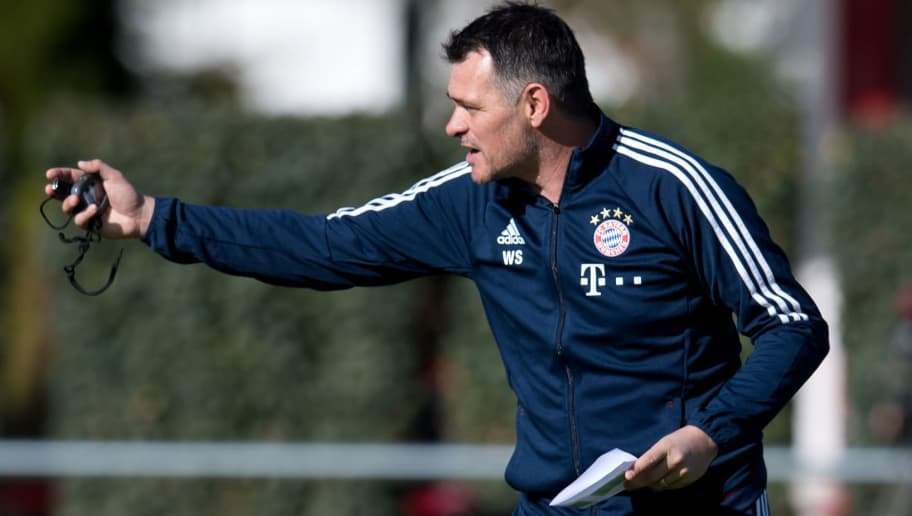 FC Bayern Munich's French interim head coach Willy Sagnol leads a training session on October 5, 2017 at the club's training camp in Munich, southern Germany. / AFP PHOTO / dpa / Sven Hoppe / Germany OUT        (Photo credit should read SVEN HOPPE/AFP/Getty Images)