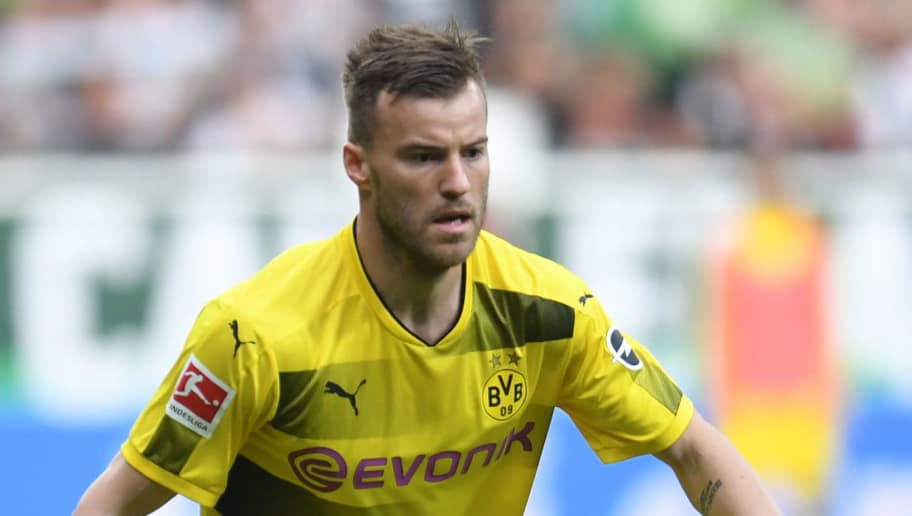 Dortmund's Ukrainian forward Andriy Yarmolenko plays the ball during the German first division Bundesliga football match of Werder Bremen versus Borussia Dortmund oon April 29, 2018 in Bremen. (Photo by Patrik STOLLARZ / AFP) / RESTRICTIONS: DURING MATCH TIME: DFL RULES TO LIMIT THE ONLINE USAGE TO 15 PICTURES PER MATCH AND FORBID IMAGE SEQUENCES TO SIMULATE VIDEO. == RESTRICTED TO EDITORIAL USE == FOR FURTHER QUERIES PLEASE CONTACT DFL DIRECTLY AT + 49 69 650050        (Photo credit should read PATRIK STOLLARZ/AFP/Getty Images)