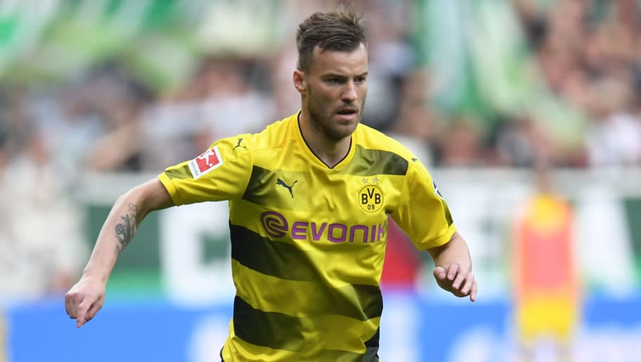 Dortmund's Ukrainian forward Andriy Yarmolenko plays the ball during the German first division Bundesliga football match of Werder Bremen versus Borussia Dortmund on April 29, 2018 in Bremen. (Photo by Patrik STOLLARZ / AFP) / RESTRICTIONS: DURING MATCH TIME: DFL RULES TO LIMIT THE ONLINE USAGE TO 15 PICTURES PER MATCH AND FORBID IMAGE SEQUENCES TO SIMULATE VIDEO. == RESTRICTED TO EDITORIAL USE == FOR FURTHER QUERIES PLEASE CONTACT DFL DIRECTLY AT + 49 69 650050        (Photo credit should read PATRIK STOLLARZ/AFP/Getty Images)