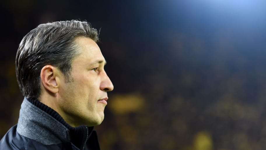 Bayern Munich's Croatian headcoach Niko Kovac waits prior to the German first division Bundesliga football match BVB Borussia Dortmund v FC Bayern Munich in Dortmund, western Germany, on November 10, 2018. (Photo by Christof STACHE / AFP) / RESTRICTIONS: DFL REGULATIONS PROHIBIT ANY USE OF PHOTOGRAPHS AS IMAGE SEQUENCES AND/OR QUASI-VIDEO        (Photo credit should read CHRISTOF STACHE/AFP/Getty Images)