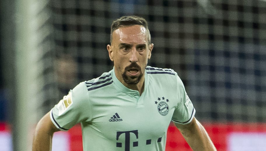Bayern Munich's French midfielder Franck Ribery runs with the ball during the German first division Bundesliga football match Hertha Berlin v Bayern Munich at the Olympic stadium in Berlin on September 28, 2018. (Photo by Odd ANDERSEN / AFP) / DFL REGULATIONS PROHIBIT ANY USE OF PHOTOGRAPHS AS IMAGE SEQUENCES AND/OR QUASI-VIDEO        (Photo credit should read ODD ANDERSEN/AFP/Getty Images)