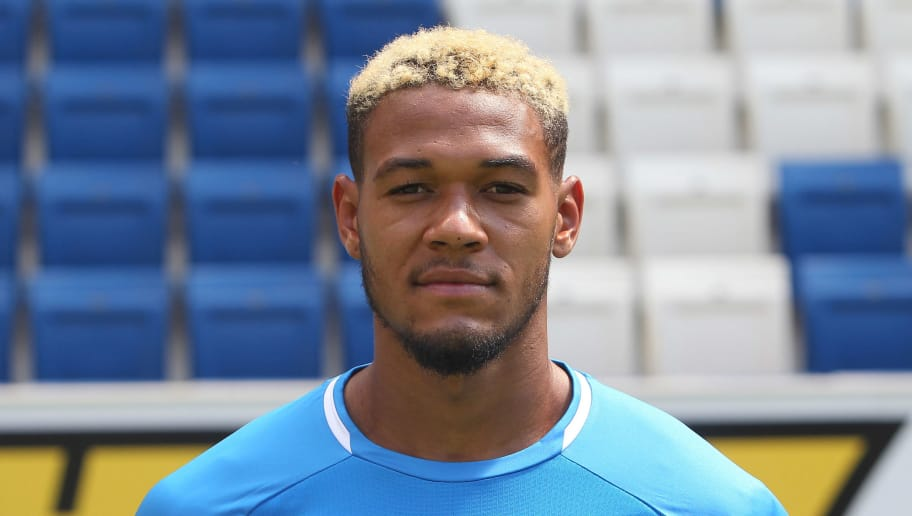 Joelinton of the German First division Bundesliga football team TSG 1899 Hoffenheim poses for a photo during the team presentation in Sinsheim, southern Germany, on July 25, 2018. (Photo by Daniel ROLAND / AFP)        (Photo credit should read DANIEL ROLAND/AFP/Getty Images)