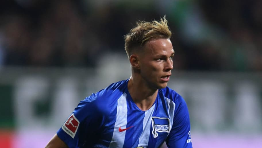 Berlin's Slovakian midfielder Ondrej Duda controls the ball  during the German first division Bundesliga football match Werder Bremen vs Hertha BSC Berlin in Bremen, nothern Germany, on September 25, 2018. (Photo by Patrik STOLLARZ / AFP) / RESTRICTIONS: DFL REGULATIONS PROHIBIT ANY USE OF PHOTOGRAPHS AS IMAGE SEQUENCES AND/OR QUASI-VIDEO        (Photo credit should read PATRIK STOLLARZ/AFP/Getty Images)