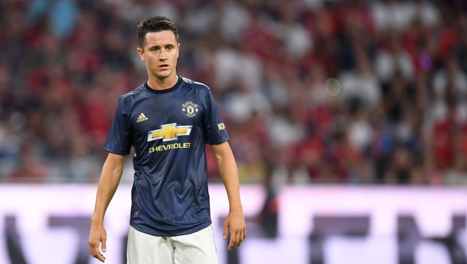 Manchester United's Spanish midfielder Ander Herrera stands on the pitch during the pre-season friendly football match between FC Bayern Munich and Manchester United at the Allianz Arena in Munich, southern Germany on August 5, 2018. (Photo by Christof STACHE / AFP)        (Photo credit should read CHRISTOF STACHE/AFP/Getty Images)