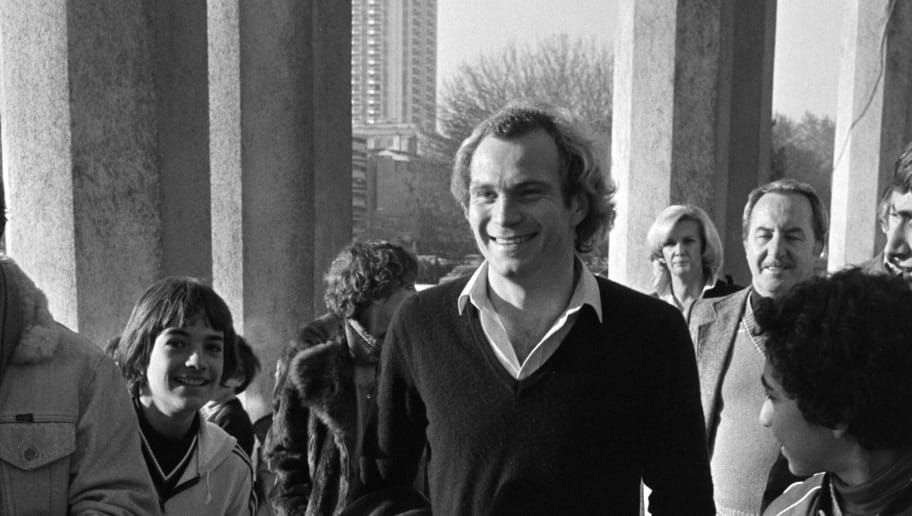 Photo taken on November 25, 1979 shows Bayern Munich's  general manager Uli Hoeness at the Velodrome stadium in Marseille to recruit Marius Tresor.  AFP PHOTO GERARD FOUET        (Photo credit should read GERARD FOUET/AFP/Getty Images)