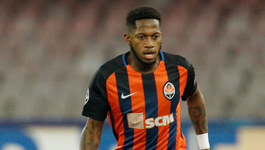 Shakhtar Donetsk's Brazilian midfielder Fred controls the ball during the UEFA Champions League Group F football match Napoli vs Shakhtar Donetsk on November 21, 2017 at the San Paolo stadium in Naples.  / AFP PHOTO / Carlo Hermann        (Photo credit should read CARLO HERMANN/AFP/Getty Images)