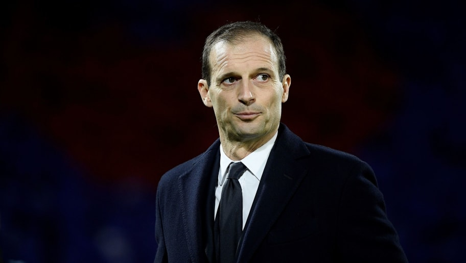 Juventus' coach Massimiliano Allegri reacts during the Serie A football match between Fiorentina and Juventus on December 1, 2018 at the Artemio Franchi Stadium in Florence. (Photo by Filippo MONTEFORTE / AFP)        (Photo credit should read FILIPPO MONTEFORTE/AFP/Getty Images)
