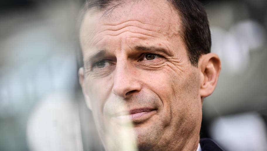 Juventus' Italian coach Massimiliano Allegri looks on during the Italian Serie A football match Juventus vs Sampdoria on December 29, 2018 at the Juventus stadium in Turin. (Photo by Marco BERTORELLO / AFP)        (Photo credit should read MARCO BERTORELLO/AFP/Getty Images)