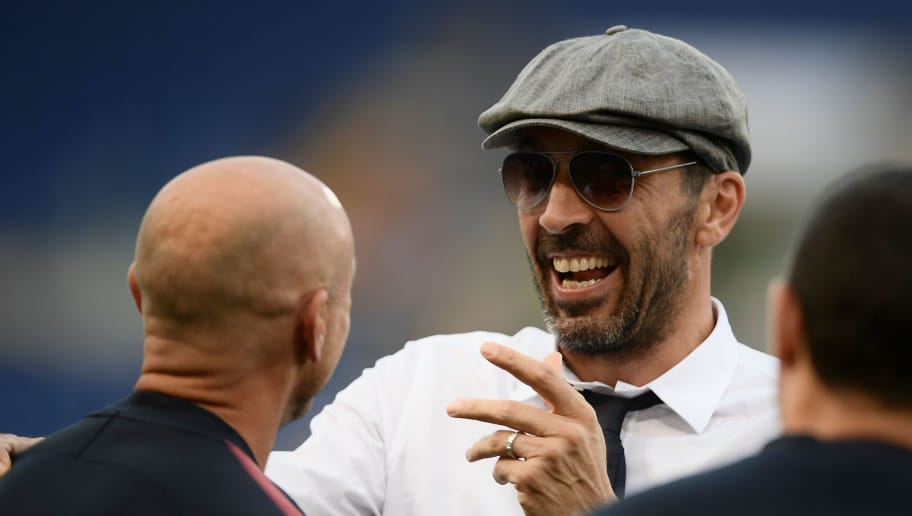 Juventus' goalkeeper from Italy Gianluigi Buffon is pictured before the Italian Serie A football match AS Roma vs Juventus at the Olympic stadium on May 13, 2018 in Rome. (Photo by Filippo MONTEFORTE / AFP)        (Photo credit should read FILIPPO MONTEFORTE/AFP/Getty Images)