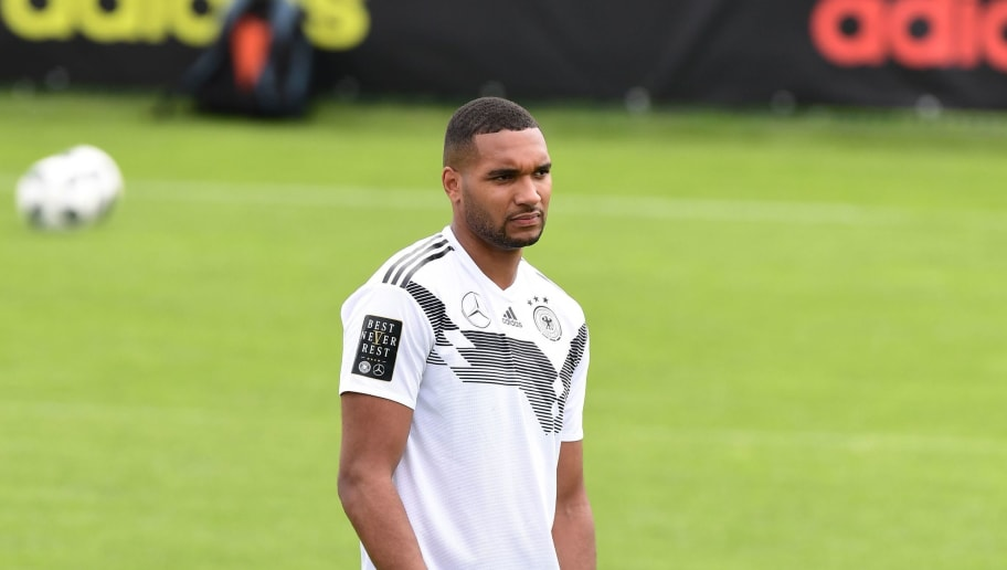 German national football team defender Jonathan Tah takes part in a training session at the Rungghof training center on May 24, 2018 in Girlan, near Bolzano, northern Italy. The 'Mannschaft' will stay till June 7, 2018 in Rungghof to train before Russia's World Cup 2018. (Photo by MIGUEL MEDINA / AFP)        (Photo credit should read MIGUEL MEDINA/AFP/Getty Images)