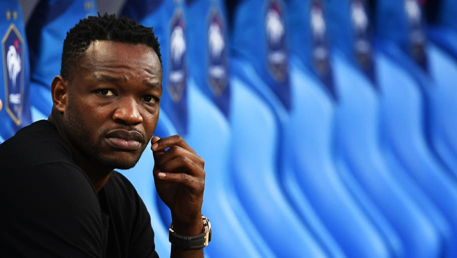 France's goalkeeper Steve Mandanda waits before the UEFA Nations League football match between France and Netherlands at the Stade de France stadium, in Saint-Denis, northern of Paris, on September 9, 2018. (Photo by Anne-Christine POUJOULAT / AFP)        (Photo credit should read ANNE-CHRISTINE POUJOULAT/AFP/Getty Images)