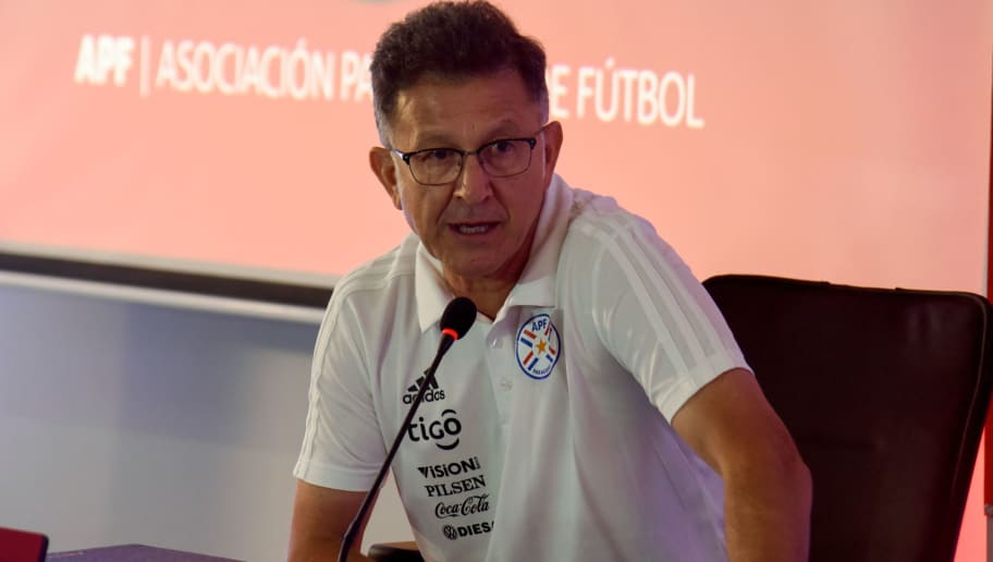 The new head coach of the Paraguayan national football team, Colombian Juan Carlos Osorio, delivers a press conference in Asuncion, on September 25, 2018. (Photo by NORBERTO DUARTE / AFP)        (Photo credit should read NORBERTO DUARTE/AFP/Getty Images)