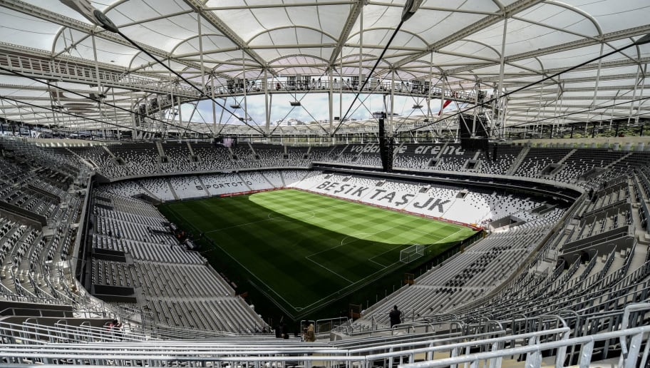 A picture taken on April 10, 2016 in Istanbul shows a general view of the Besiktas football club's 'Vodafone arena' new stadium on the opening day. AFP PHOTO / OZAN KOSE / AFP / OZAN KOSE        (Photo credit should read OZAN KOSE/AFP/Getty Images)