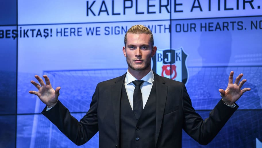 German goalkeeper Loris Karius poses after a press conference for his presentation at the Vodafone Park Stadium, on August 29, 2018, in Istanbul. - Liverpool goalkeeper Loris Karius has joined Turkish football team Besiktas for a two-year loan deal. (Photo by OZAN KOSE / AFP)        (Photo credit should read OZAN KOSE/AFP/Getty Images)