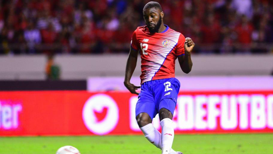 Costa Rica's midfielder Joel Campbell in action during their 2018 FIFA World Cup qualifier football match in San Jose, on November 15, 2016. / AFP / EZEQUIEL BECERRA        (Photo credit should read EZEQUIEL BECERRA/AFP/Getty Images)