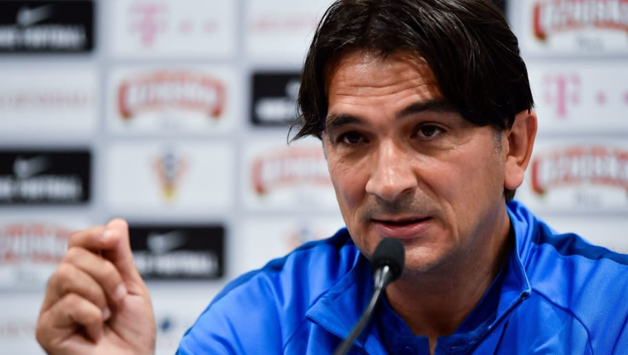 Croatia's coach Zlatko Dalic gives a press conference in Saint Petersburg on June 17, 2018, during the Russia 2018 World Cup football tournament. (Photo by CHRISTOPHE SIMON / AFP)        (Photo credit should read CHRISTOPHE SIMON/AFP/Getty Images)