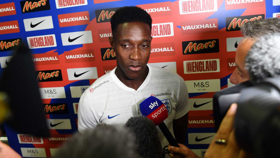 England's forward Danny Welbeck is interviewed in Repino on July 1, 2018, ahead of the team's Russia 2018 World Cup round of 16 football match against Colombia. (Photo by PAUL ELLIS / AFP)        (Photo credit should read PAUL ELLIS/AFP/Getty Images)