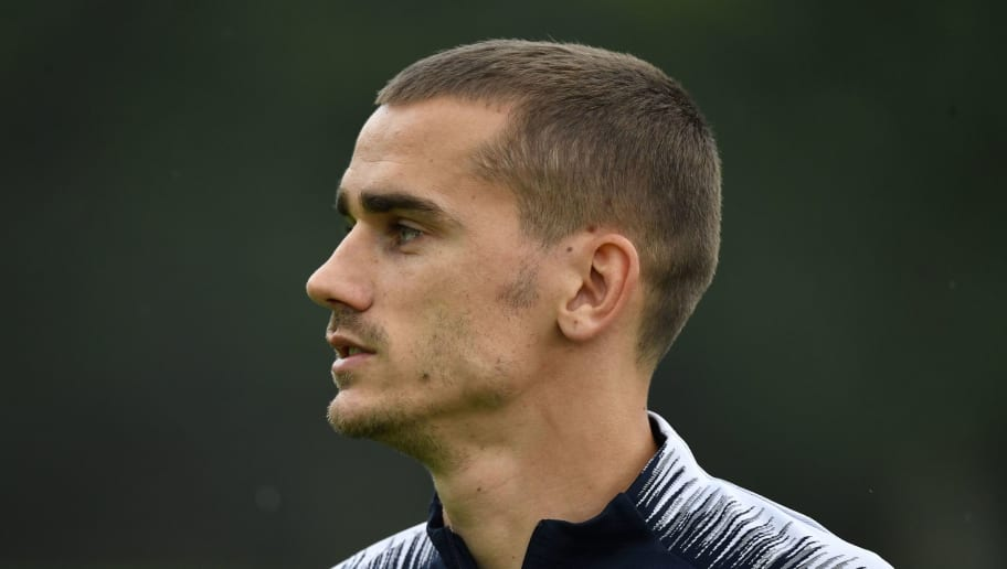 France's foward Antoine Griezmann arrives for a training session at the French national football team's training grounds in Clairefontaine-en-Yvelines, southwest of Paris, on June 6, 2018, as part of preparations for the FIFA World Cup 2018 in Russia. (Photo by GERARD JULIEN / AFP)        (Photo credit should read GERARD JULIEN/AFP/Getty Images)