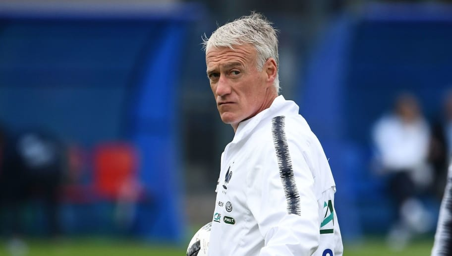 France's head coach Didier Deschamps gestures as he oversees his team's training at the Glebovets stadium in Istra, on June 12, 2018, ahead of the Russia 2018 World Cup football tournament. (Photo by FRANCK FIFE / AFP)        (Photo credit should read FRANCK FIFE/AFP/Getty Images)