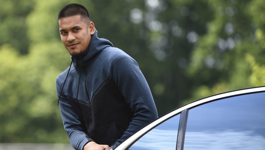 France's goalkeeper Alphonse Areola arrives in Clairefontaine-en-Yvelines on June 4, 2018, as part of the team's preparation for the upcoming FIFA Football World Cup 2018 in Russia. (Photo by FRANCK FIFE / AFP)        (Photo credit should read FRANCK FIFE/AFP/Getty Images)