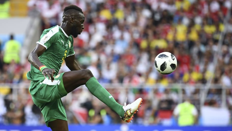 Senegal's defender Salif Sane controls the ball during the Russia 2018 World Cup Group H football match between Poland and Senegal at the Spartak Stadium in Moscow on June 19, 2018. (Photo by FRANCK FIFE / AFP) / RESTRICTED TO EDITORIAL USE - NO MOBILE PUSH ALERTS/DOWNLOADS        (Photo credit should read FRANCK FIFE/AFP/Getty Images)