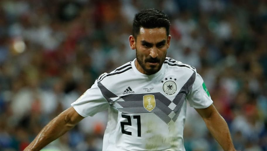 Germany's midfielder Ilkay Gundogan controls the ball during the Russia 2018 World Cup Group F football match between Germany and Sweden at the Fisht Stadium in Sochi on June 23, 2018. (Photo by Odd ANDERSEN / AFP) / RESTRICTED TO EDITORIAL USE - NO MOBILE PUSH ALERTS/DOWNLOADS        (Photo credit should read ODD ANDERSEN/AFP/Getty Images)