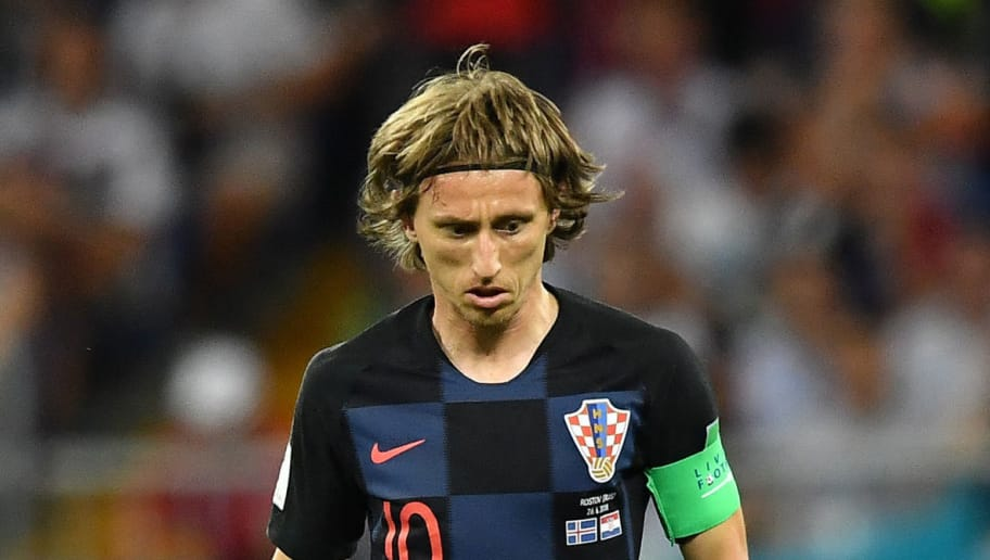 Croatia's midfielder Luka Modric controls the ball during the Russia 2018 World Cup Group D football match between Iceland and Croatia at the Rostov Arena in Rostov-On-Don on June 26, 2018. (Photo by JOE KLAMAR / AFP) / RESTRICTED TO EDITORIAL USE - NO MOBILE PUSH ALERTS/DOWNLOADS        (Photo credit should read JOE KLAMAR/AFP/Getty Images)
