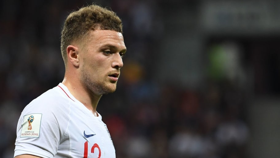 England's defender Kieran Trippier looks on during the Russia 2018 World Cup semi-final football match between Croatia and England at the Luzhniki Stadium in Moscow on July 11, 2018. (Photo by MANAN VATSYAYANA / AFP) / RESTRICTED TO EDITORIAL USE - NO MOBILE PUSH ALERTS/DOWNLOADS        (Photo credit should read MANAN VATSYAYANA/AFP/Getty Images)