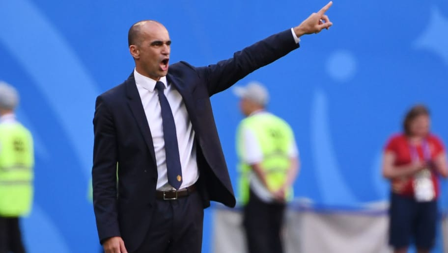 Belgium's coach Roberto Martinez gestures during their Russia 2018 World Cup play-off for third place football match between Belgium and England at the Saint Petersburg Stadium in Saint Petersburg on July 14, 2018. (Photo by Paul ELLIS / AFP) / RESTRICTED TO EDITORIAL USE - NO MOBILE PUSH ALERTS/DOWNLOADS        (Photo credit should read PAUL ELLIS/AFP/Getty Images)