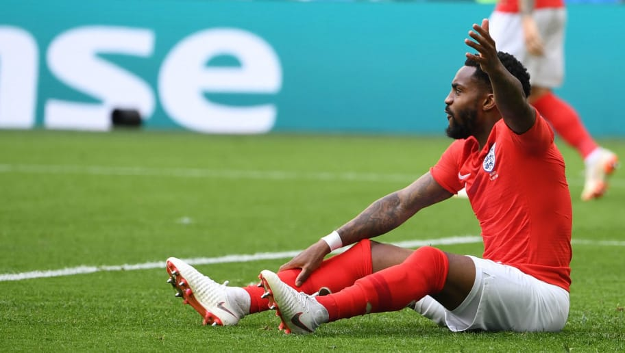 England's defender Danny Rose reacts after Belgium's defender Thomas Meunier scored during their Russia 2018 World Cup play-off for third place football match between Belgium and England at the Saint Petersburg Stadium in Saint Petersburg on July 14, 2018. (Photo by Paul ELLIS / AFP) / RESTRICTED TO EDITORIAL USE - NO MOBILE PUSH ALERTS/DOWNLOADS        (Photo credit should read PAUL ELLIS/AFP/Getty Images)