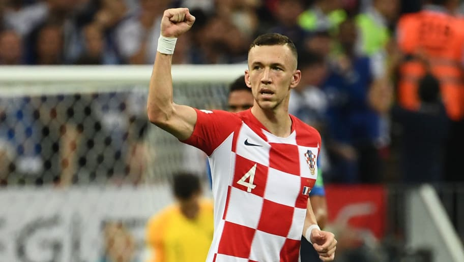 Croatia's forward Ivan Perisic celebrates a goal during the Russia 2018 World Cup final football match between France and Croatia at the Luzhniki Stadium in Moscow on July 15, 2018. (Photo by FRANCK FIFE / AFP) / RESTRICTED TO EDITORIAL USE - NO MOBILE PUSH ALERTS/DOWNLOADS        (Photo credit should read FRANCK FIFE/AFP/Getty Images)