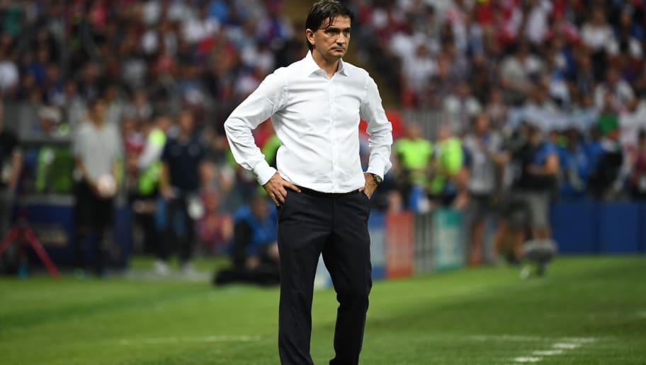 Croatia's coach Zlatko Dalic looks on during the Russia 2018 World Cup final football match between France and Croatia at the Luzhniki Stadium in Moscow on July 15, 2018. (Photo by FRANCK FIFE / AFP) / RESTRICTED TO EDITORIAL USE - NO MOBILE PUSH ALERTS/DOWNLOADS        (Photo credit should read FRANCK FIFE/AFP/Getty Images)