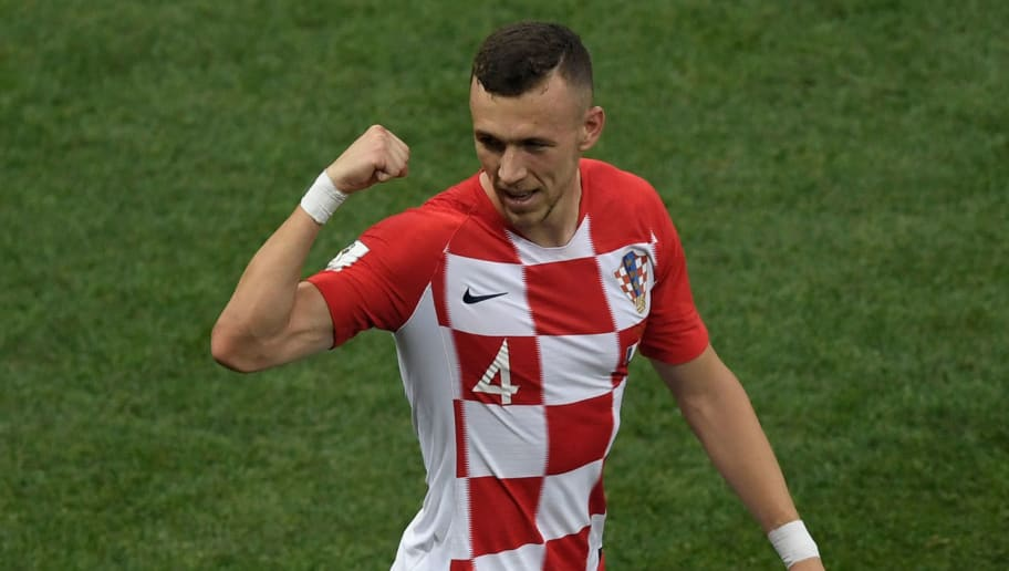 Croatia's forward Ivan Perisic celebrates after scoring a goal during the Russia 2018 World Cup final football match between France and Croatia at the Luzhniki Stadium in Moscow on July 15, 2018. (Photo by GABRIEL BOUYS / AFP) / RESTRICTED TO EDITORIAL USE - NO MOBILE PUSH ALERTS/DOWNLOADS        (Photo credit should read GABRIEL BOUYS/AFP/Getty Images)