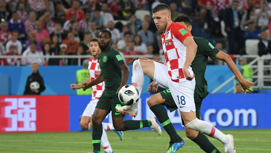 Croatia's forward Ante Rebic misses a chance during the Russia 2018 World Cup Group D football match between Croatia and Nigeria at the Kaliningrad Stadium in Kaliningrad on June 16, 2018. (Photo by Patrick HERTZOG / AFP) / RESTRICTED TO EDITORIAL USE - NO MOBILE PUSH ALERTS/DOWNLOADS        (Photo credit should read PATRICK HERTZOG/AFP/Getty Images)
