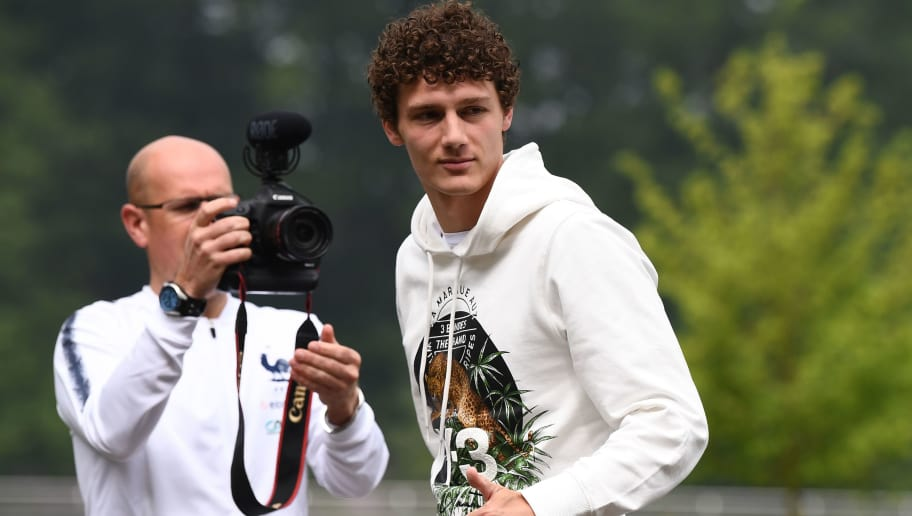 French national football team's defender Benjamin Pavard arrives at the team's training camp ahead of the 2018 World Cup, on May 23, 2018 at France's training centre in Clairefontaine-en-Yvelines, outside Paris. (Photo by FRANCK FIFE / AFP)        (Photo credit should read FRANCK FIFE/AFP/Getty Images)