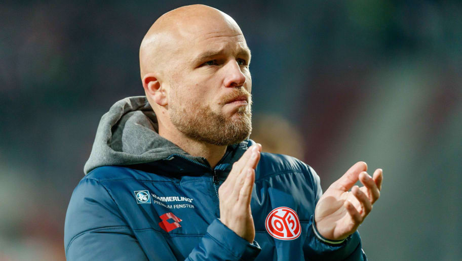 AUGSBURG, GERMANY - OCTOBER 30: Sporting director Rouven Schroeder of FSV Mainz gestures after the DFB Cup match between FC Augsburg and 1. FSV Mainz 05 at WWK-Arena on October 30, 2018 in Augsburg, Germany. (Photo by TF-Images/Getty Images)