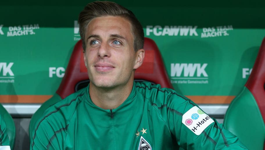 AUGSBURG, GERMANY - SEPTEMBER 01: Patrick Herrmann of Moenchengladbach is seen prior to the Bundesliga match between FC Augsburg and Borussia Moenchengladbach at WWK-Arena on September 1, 2018 in Augsburg, Germany. (Photo by Christian Kaspar-Bartke/Bongarts/Getty Images)